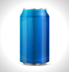 Blue aluminum can vector image