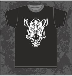 Boar on T-shirt vector image