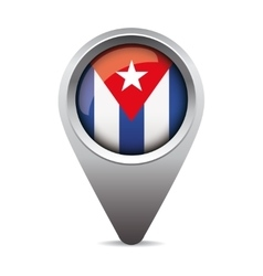 Cuba flag pointer vector image vector image