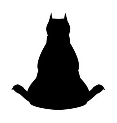 Dog from back view the black color icon vector