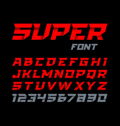 paper style super font italic type alphabet and vector image vector image