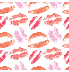 pink lips kiss seamless pattern for vector image vector image