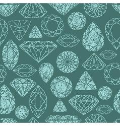 seamless diamond pattern grunge vector image