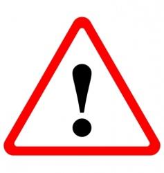 triangular warning sign vector image vector image