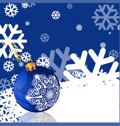 blue new year greeting card vector image