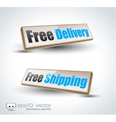 free delivery panels vector image vector image