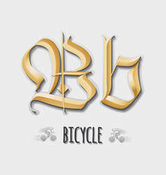 Letter Bb sticker insignia vector image