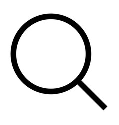 magnifying glass or loupe the black color icon vector image vector image
