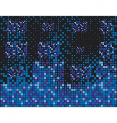 blue squares vector image vector image