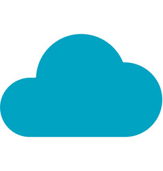business networking cloud storage icon vector image vector image
