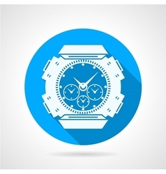 Divers watch round icon vector image vector image