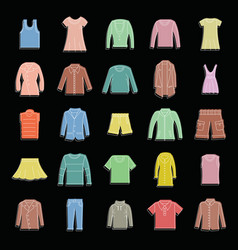 fashion clothes set doodle for vector image vector image
