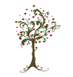 Hearts Tree vector image vector image