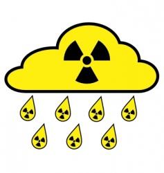 radioactive fallout vector image vector image