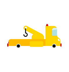 tow truck isolated transport on white background vector image vector image