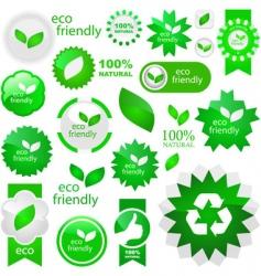 eco friendly elements vector image vector image