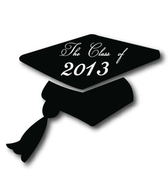 Graduation hat for the class of 2013 vector image vector image