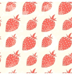 Grunge red strawberry vector image vector image