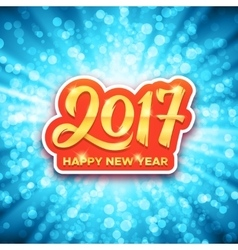 Happy New Year 2017 greeting card design vector image vector image