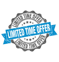 limited time offer stamp sign seal vector image