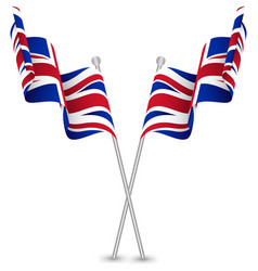 The United Kingdom UK Waving Flag vector image