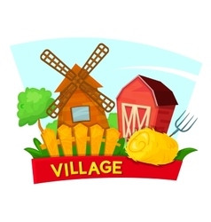 The village concept design vector image