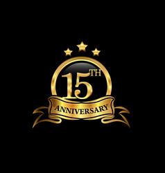 15 year anniversary celebration anniversary vector