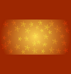 Abstract background from outline stars on vector