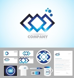 Abstract company corporate identity template logo vector
