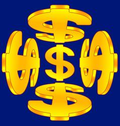 Abstract dollar signs vector