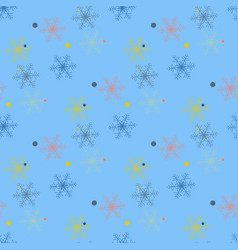 abstract handmade snowflake seamless pattern vector image