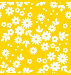 abstract simple white flowers seamless pattern vector image
