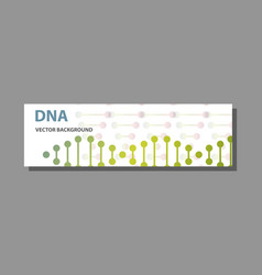 abstract technology science concept dna vector image