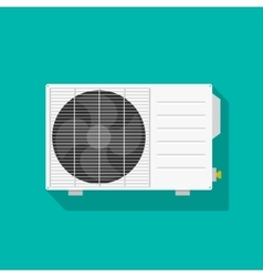 Air conditioning unit isolated vector