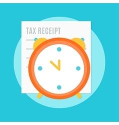 Alarm Clock and Tax Receipt vector