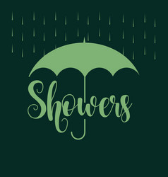 April showers template design vector