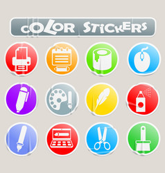 Art color stickers vector