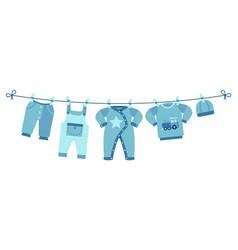 boy newborn clothes cute blue pants sweater vector image