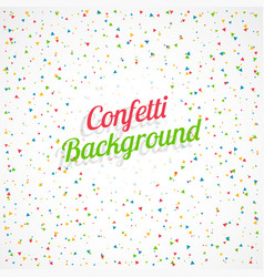 Celebration background with colorful confetti vector