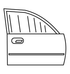clean car door icon outline style vector image
