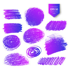 Collection ultraviolet pencil hatching vector