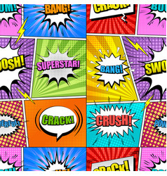 comic book page seamless pattern vector image