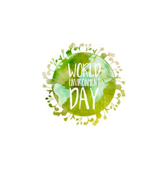 concept for world environment day vector image
