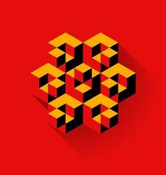 Cubes logo vector image