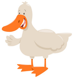 duck farm animal cartoon vector image