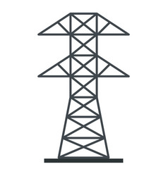 electric power station icon isolated vector image