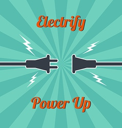 Electricity vintage theme vector