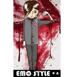 Emo style cartoon vector