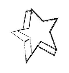 figure cute bright star art design vector image