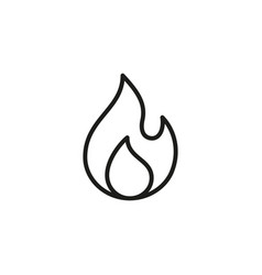 fire flame icon element for mobile vector image